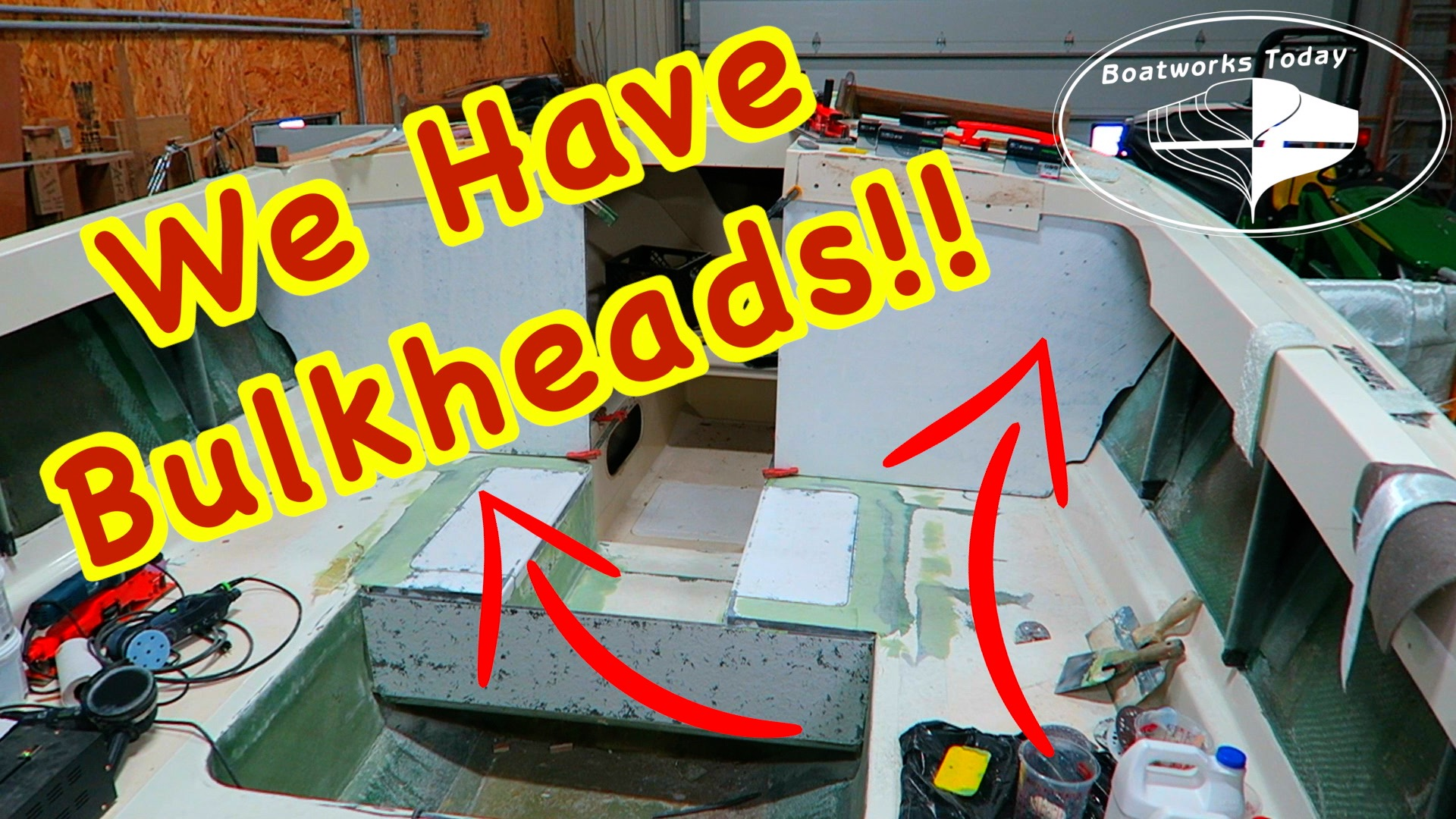 Cutting Fiberglassing And Fitting The New Bulkheads!