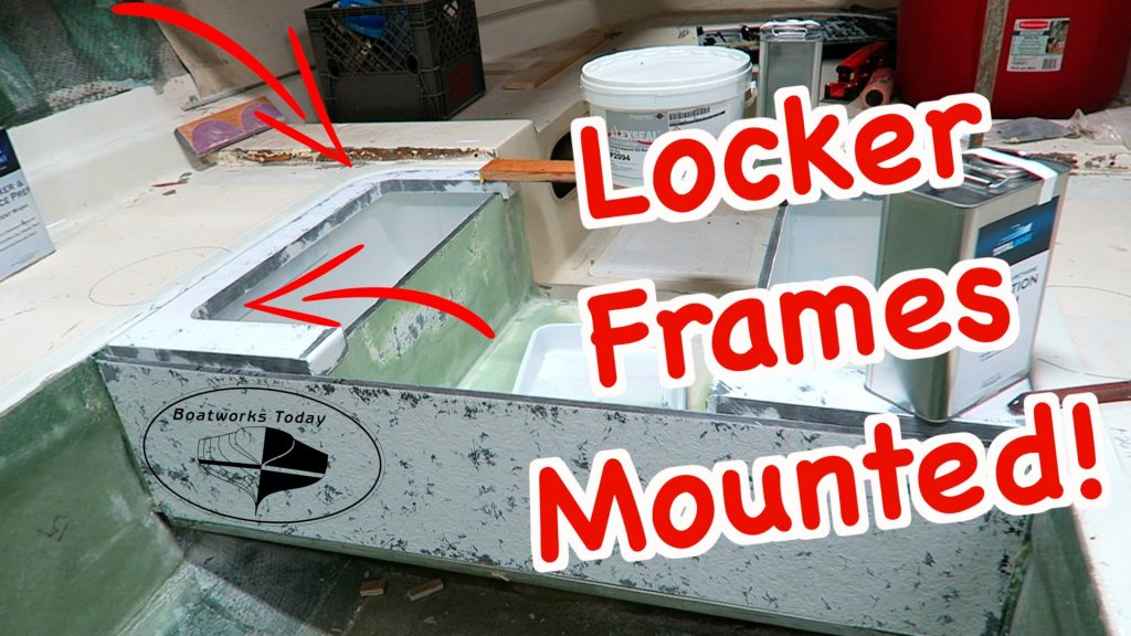 Mounting The Coosa Locker Frames On A Bertram Moppie!