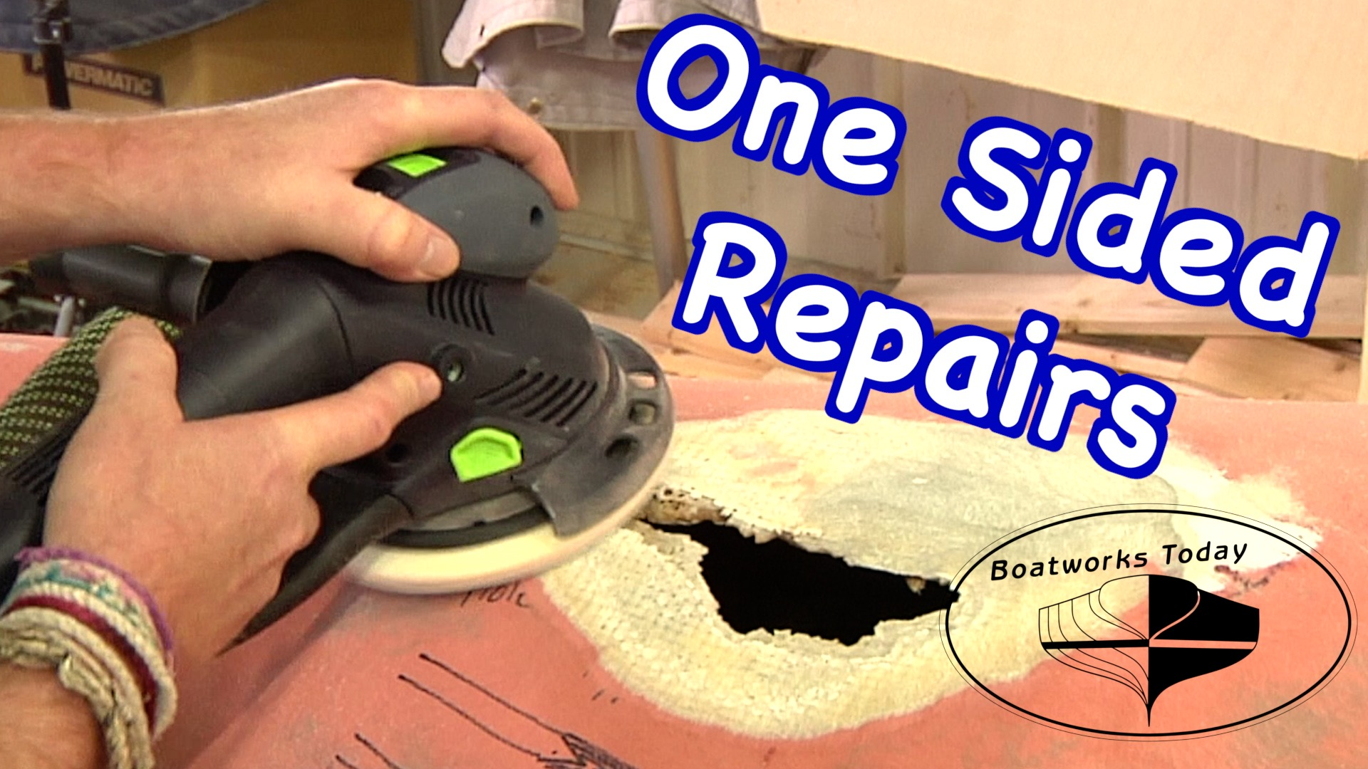 How To Repair Fiberglass Damage With Limited Access!